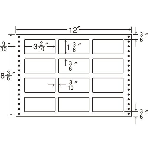 東洋印刷 Oタックシール nana 耐熱タイプ (連続ラベル) 500折 LT12