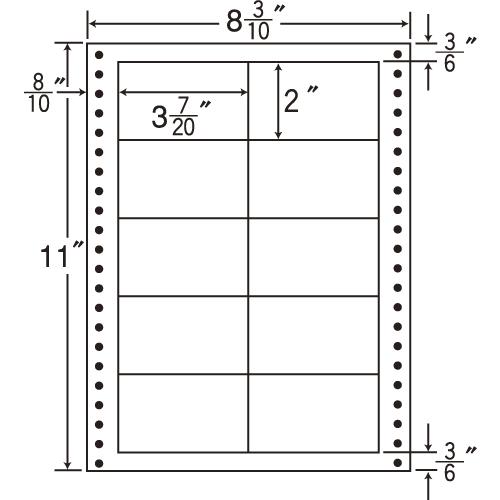 東洋印刷 タックシール nana 耐熱タイプ (連続ラベル) 500折 L8L