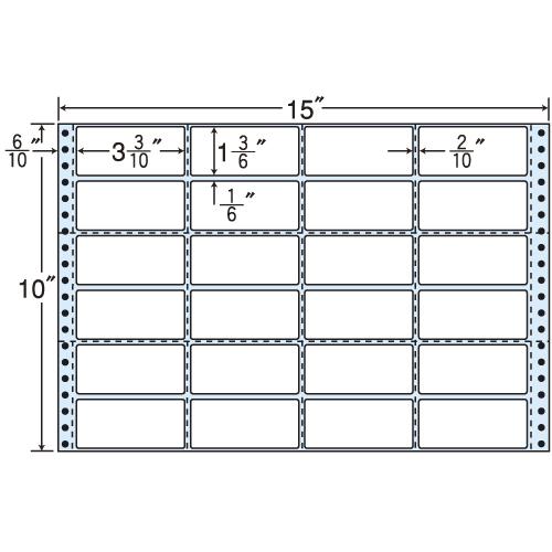 東洋印刷 タックシール nana 再剥離タイプ (連続ラベル) 500折 R15J