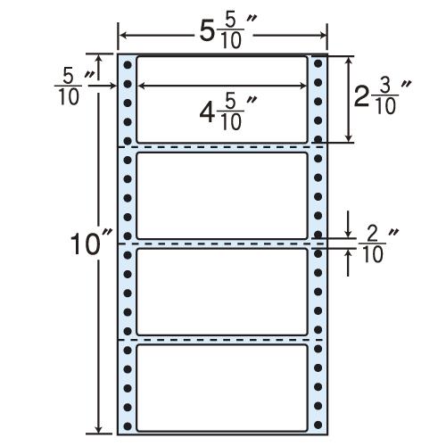 東洋印刷 タックシール nana 再剥離タイプ (連続ラベル) 500折×2 R5W