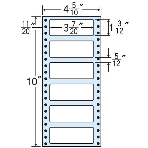 東洋印刷 タックシール nana 再剥離タイプ (連続ラベル) 500折×2 R4i