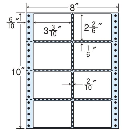 東洋印刷 タックシール nana レギュラータイプ (連続ラベル) 100折×5 MM8DS