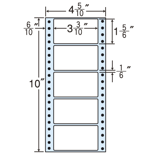 東洋印刷 タックシール nana レギュラータイプ (連続ラベル) 100折×10 MM4BS