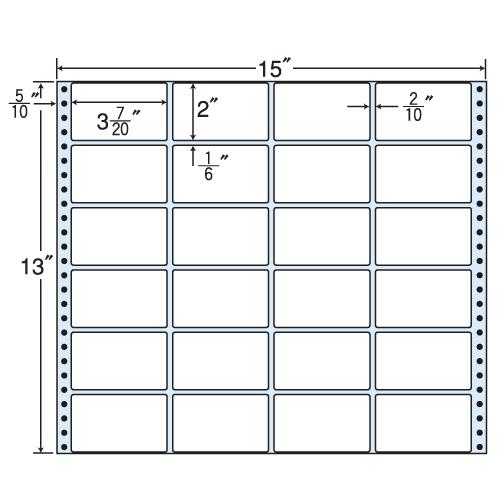 東洋印刷 タックシール nana レギュラータイプ (連続ラベル) 500折 MX15A