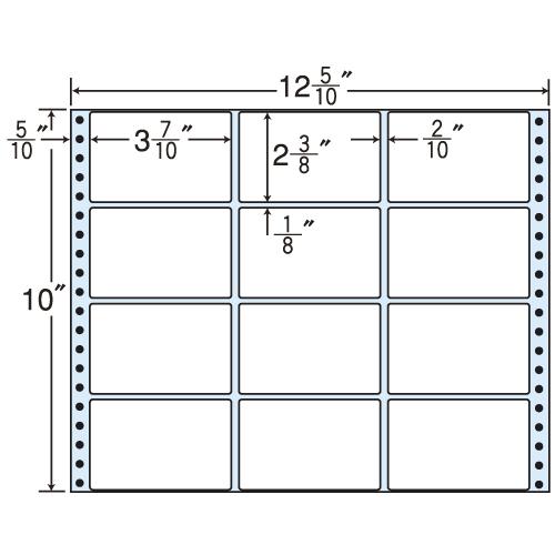 東洋印刷 タックシール nana レギュラーPDラベルタイプ (連続ラベル) 500折 MT12K