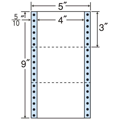 東洋印刷 タックシール nana レギュラータイプ (連続ラベル) 500折×2 MM5Z
