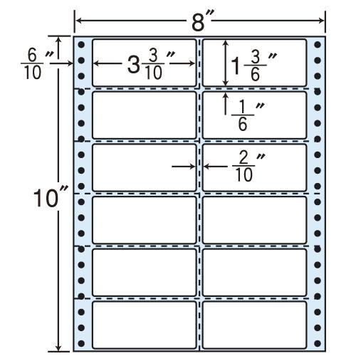 東洋印刷 タックシール nana レギュラータイプ (連続ラベル) 500折 MM8Q