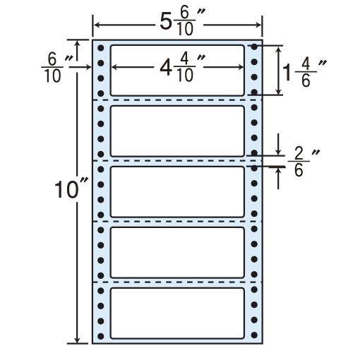 東洋印刷 タックシール nana レギュラータイプ (連続ラベル) 500折×2 MM5S
