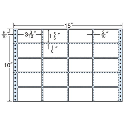 東洋印刷 タックシール nana レギュラータイプ (連続ラベル) 500折 MT15H