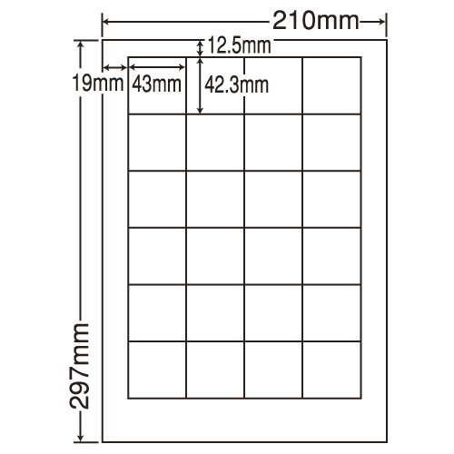東洋印刷 ラベルシール nana 汎用タイプ A4 500シート LDW24P