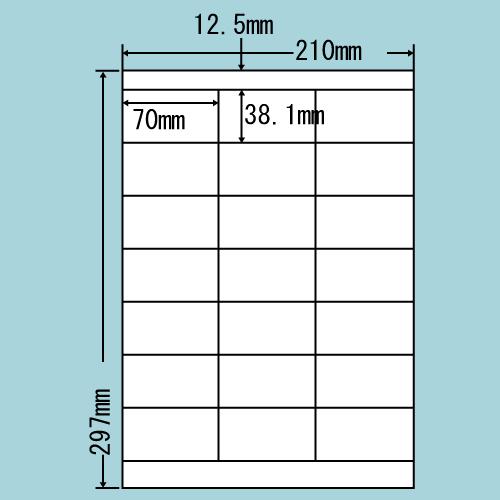 東洋印刷 ラベルシール nana 汎用タイプ A4 500シート LDZ21Q