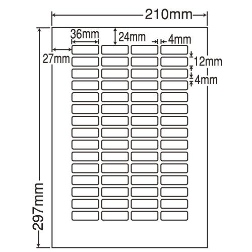 東洋印刷 Oラベルシール nana 汎用タイプ A4 500シート LDW60