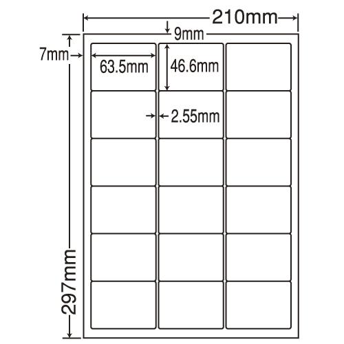 東洋印刷 ラベルシール nana 再剥離タイプ A4 500シート LDW18PF