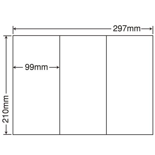 東洋印刷 ラベルシール nana 再剥離タイプ A4 100シート×5 C3GF