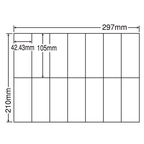 東洋印刷 ラベルシール nana 再剥離タイプ A4 100シート×5 C14QF