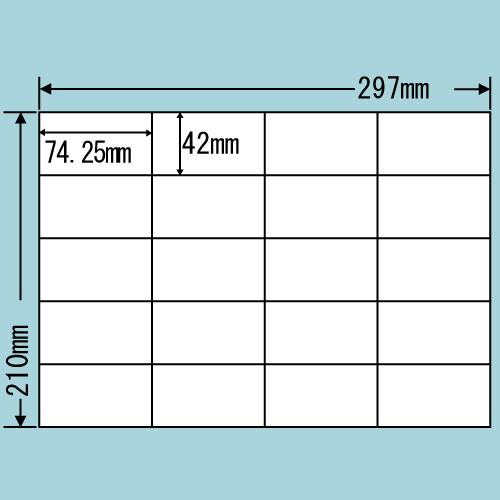 東洋印刷 ラベルシール nana 再剥離タイプ A4 100シート×5 C20SF