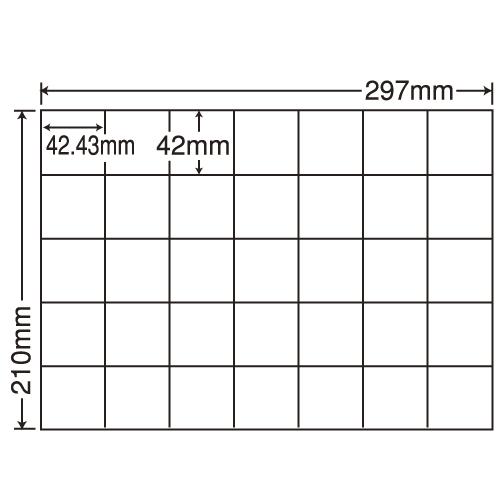 東洋印刷 ラベルシール nana 再剥離タイプ A4 100シート×5 C35QF