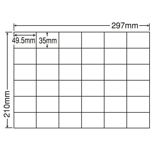 東洋印刷 ラベルシール nana 再剥離タイプ A4 100シート×5 C36PF