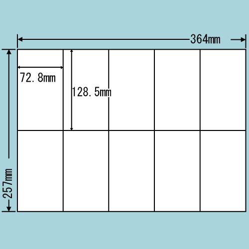 東洋印刷 ラベルシール nana 再剥離タイプ B4 100シート×5 E10MF
