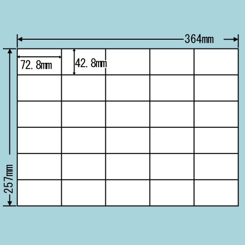 東洋印刷 ラベルシール nana 再剥離タイプ B4 100シート×5 E30MF