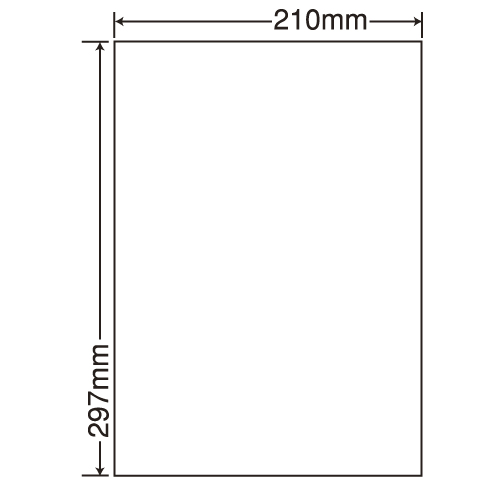 東洋印刷 カラーレーザー用フィルムラベル nana A4 100シート FCL-7