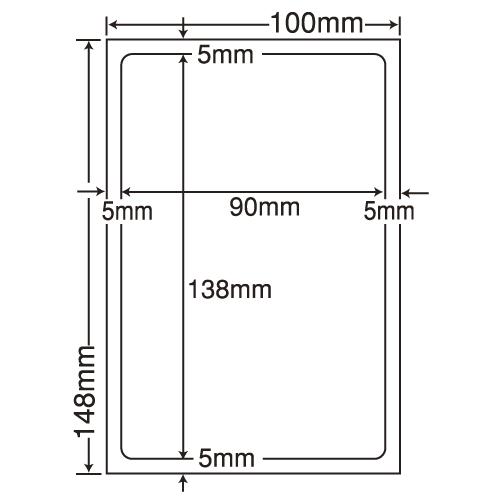 東洋印刷 医療機関向けラベル nana 汎用 ハガキ 1000シート CLH-24