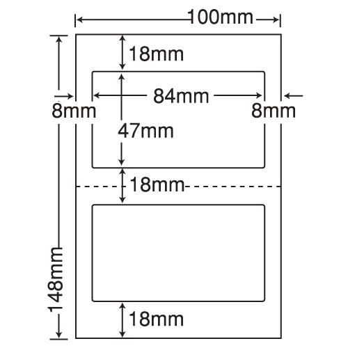 東洋印刷 医療機関向けラベル nana 汎用 ハガキ 1000シート CLH-27
