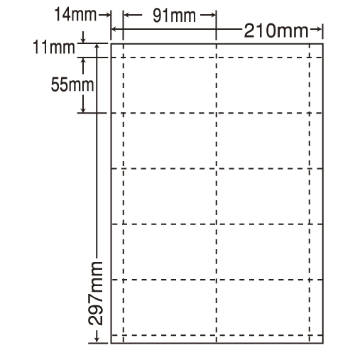 東洋印刷 nana ナナカード 10面 A4 CLC-5