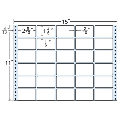 東洋印刷 タックシール nana 再剥離タイプ (連続ラベル) 500折 RT15B