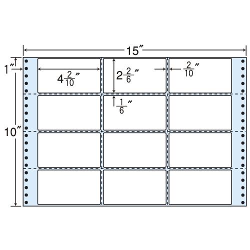 東洋印刷 タックシール nana レギュラータイプ (連続ラベル) 500折 M15V
