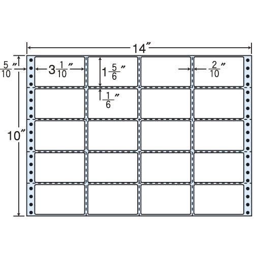 東洋印刷 タックシール nana レギュラータイプ (連続ラベル) 500折 MH14V