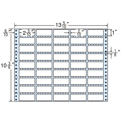 東洋印刷 タックシール nana 再剥離タイプ (連続ラベル) 500折 RT13X