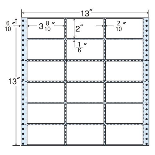 東洋印刷 タックシール nana 再剥離タイプ (連続ラベル) 500折 R13A
