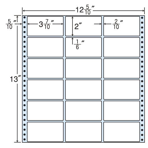 東洋印刷 タックシール nana レギュラータイプ (連続ラベル) 500折 MT12P