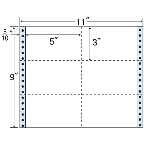 東洋印刷 タックシール nana レギュラータイプ (連続ラベル) 500折 M11R