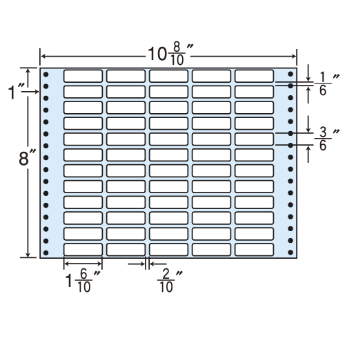 東洋印刷 タックシール nana レギュラータイプ (連続ラベル) 500折 MT10K