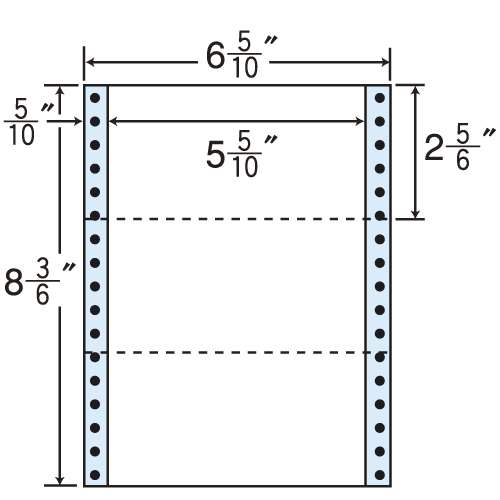 東洋印刷 タックシール nana レギュラータイプ (連続ラベル) 1000折 MT6T