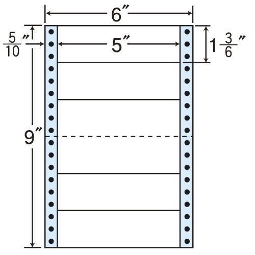 東洋印刷 タックシール nana レギュラータイプ (連続ラベル) 1000折 MM6P