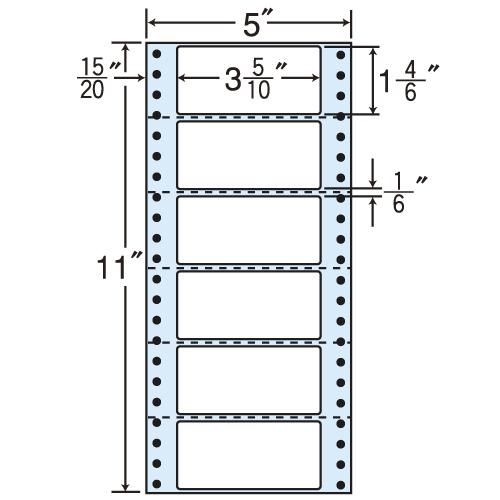 東洋印刷 タックシール nana 再剥離タイプ (連続ラベル) 1000折 R5E