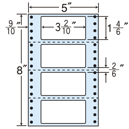 東洋印刷 タックシール nana レギュラータイプ (連続ラベル) 1000折 MX5F