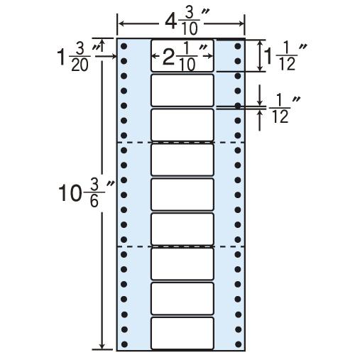 東洋印刷 タックシール nana レギュラータイプ (連続ラベル) 1000折 MM4S