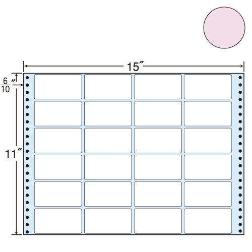 東洋印刷 タックシール nana カラータイプ (連続ラベル) ピンク 500折 MT15TP