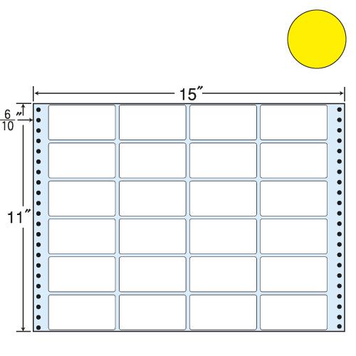 東洋印刷 タックシール nana カラータイプ (連続ラベル) イエロー 500折 MT15TY