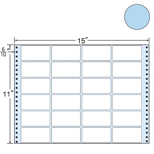 東洋印刷 タックシール nana カラータイプ (連続ラベル) ブルー 500折 MT15TB