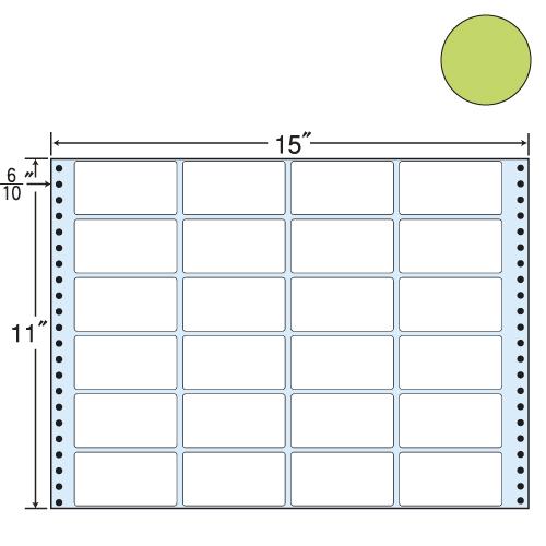 東洋印刷 タックシール nana カラータイプ (連続ラベル) グリーン 500折 MT15TG