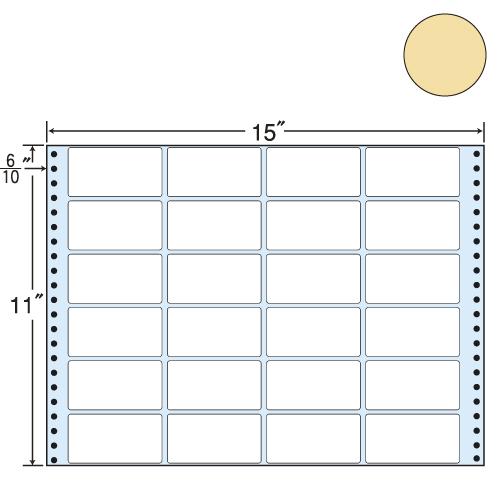 東洋印刷 タックシール nana カラータイプ (連続ラベル) ベージュ 500折 MT15TH