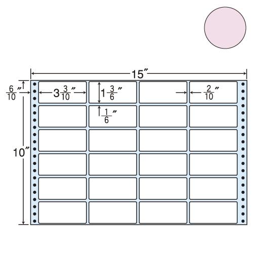 東洋印刷 タックシール nana カラータイプ (連続ラベル) ピンク 500折 M15FP