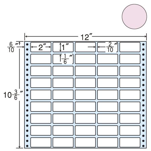 東洋印刷 タックシール nana カラータイプ (連続ラベル) ピンク 500折 M12CP
