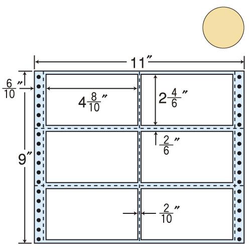 東洋印刷 タックシール nana カラータイプ (連続ラベル) ベージュ 500折 M11BH