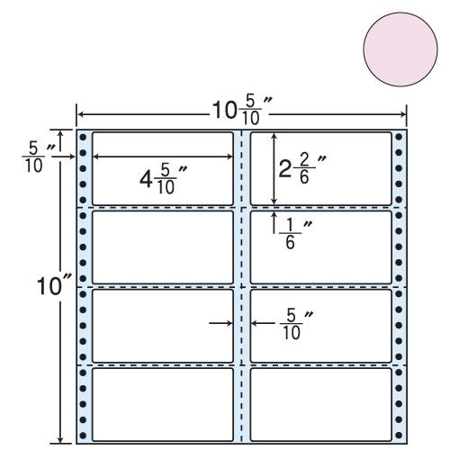 東洋印刷 タックシール nana カラータイプ (連続ラベル) ピンク 500折 M10CPP